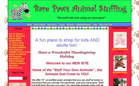 Bare Paws Animal Stuffing