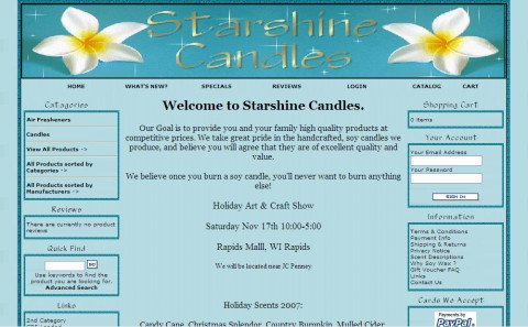 Starshine Candles